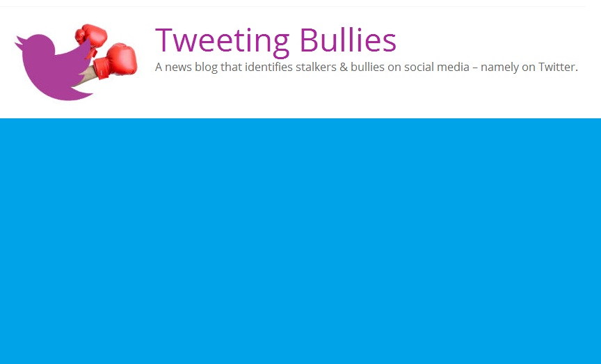 www.TweetingBullies.com - a new website to identify stalkers and bullies on social media sites such as Twitter