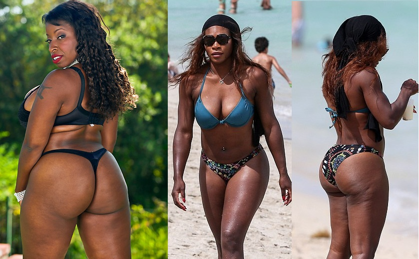Serena williams lookalike riding white cock 8