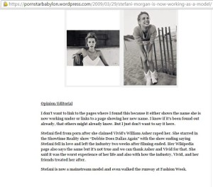 More mention of Stefani Morgan on Darrah Ford