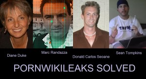 Pornwikileaks Solved - Diane Duke, Marc Randazza, Donald Carlos Seoane and Sean Tompkins were behind it from the beginning