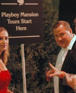 Alleged Playboy porn director and pedophile who's faced criminal charges Donny Pauling at the Playboy Mansion