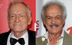 (left) Hugh Hefner (right) Keith Hefner