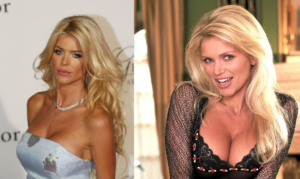 Playboy model and Melania Trump's roommate from Paris, Victoria Silvstedt (left) and the Playboy model who claims to have gone on 4 dates with Donald Trump, Victoria Zdrok (right)