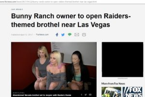 Does Dennis Hof's proposed NFL Raiders themed Las Vegas area brothel violate copyright & trademark law? Ask Mark Davis.