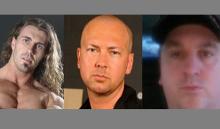 (left to right) pornstar Reno, pornstar & agent Jack Spade & businessman Greg Dodson