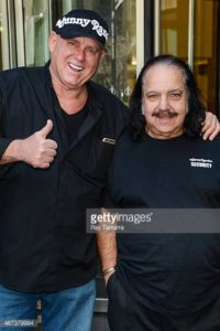 Dennis Hof (left) and Ron Jeremy (right). Dennis currently is at risk of losing his legal brothel license.