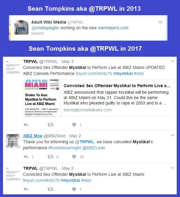 Sean Tompkins aka @TRPWL's pattern of targeting successful Black / African-American males